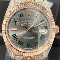 Rolex Datejust II Золото/Cталь 41mm Cерый Без цифр