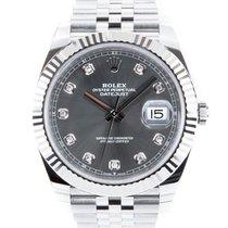 Rolex Datejust Steel 41mm Grey No numerals