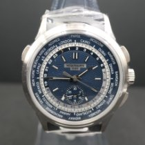 Patek Philippe World Time Chronograph Hvidguld 39.5mm Blå Ingen tal