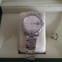 Rolex Oyster Perpetual Date Steel 34mm Silver No numerals
