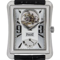 Piaget White gold Manual winding Silver Arabic numerals 29mm pre-owned Emperador
