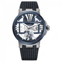 Ulysse Nardin Executive Skeleton Tourbillon 1713-139/43 Новые Титан 45mm Механические