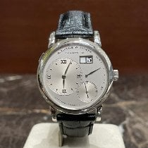 A. Lange & Söhne Platinum Manual winding Silver Roman numerals 38,5mm pre-owned Lange 1