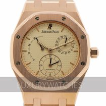 Audemars Piguet Rose gold Automatic Champagne pre-owned Royal Oak Dual Time