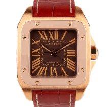 Cartier Santos 100 Pозовое золото Коричневый