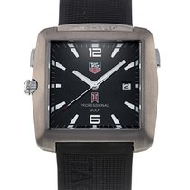 TAG Heuer Professional Golf Watch Titanium 38mm Black No numerals