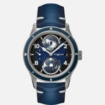 Montblanc new Automatic Luminous numerals Luminous hands Rotating Bezel Luminous indices World time watch 42mm Titanium Sapphire crystal