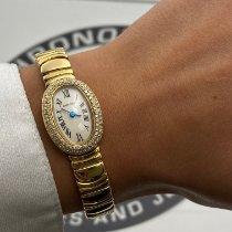 Cartier Gult guld 18mm Kvarts Baignoire brugt