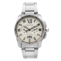 Cartier Calibre de Cartier Chronograph Steel 42mm Silver Roman numerals United States of America, New York, NYC