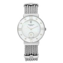 Charriol St-Tropez Steel 30mm Mother of pearl Roman numerals United States of America, New York, NYC