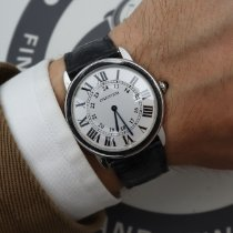Cartier Ronde Solo de Cartier pre-owned 36mm Silver Date Leather