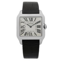 Cartier Santos Dumont White gold 30mm Silver Roman numerals United States of America, New York, NYC