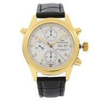 IWC Pilot Double Chronograph Yellow gold 42mm White Arabic numerals United States of America, New York, NYC