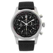 Breitling Transocean Unitime Pilot pre-owned 46mm Black Rubber