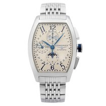 Longines Evidenza Steel 41mm Silver Arabic numerals United States of America, New York, NYC
