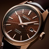 Seiko Rose gold Automatic Brown new Presage