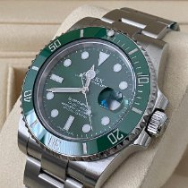 Rolex Submariner Date pre-owned 40mm Green Date Steel