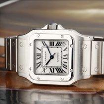 Cartier Santos Galbée подержанные 32mm Белый Дата Сталь