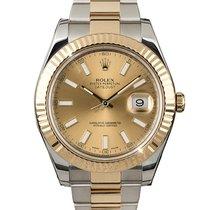 Rolex Datejust II Gold/Steel 41mm Champagne Roman numerals