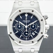 Audemars Piguet Royal Oak Chronograph pre-owned 39mm Blue Chronograph Date Steel