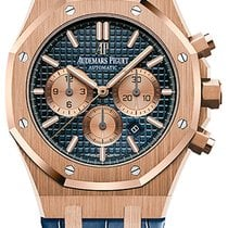 Audemars Piguet Royal Oak Chronograph Rose gold 41mm Blue United States of America, New York, Airmont