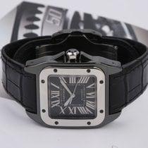 Cartier Santos 100 Сталь Черный Римские