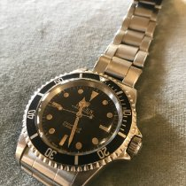 Rolex Plata Automático Negro Sin cifras 40mm usados Submariner (No Date)