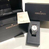Vacheron Constantin Overseas Chronograph Acero 42mm Plata Sin cifras