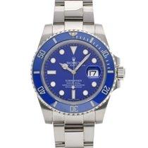Rolex Submariner Date Or blanc 40mm Bleu