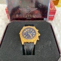 Breitling Gelbgold Automatik Schwarz 40mm gebraucht Chronomat