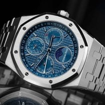 Audemars Piguet Сталь Автоподзавод Синий Без цифр 41mm новые Royal Oak Perpetual Calendar