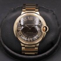 Cartier Pозовое золото Коричневый Римские 42mm подержанные Ballon Bleu 42mm