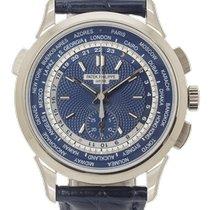 Patek Philippe World Time Chronograph usados 40mm Azul Cronógrafo GMT Piel
