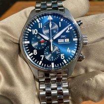 IWC Pilot Chronograph Acero 43mm Azul Arábigos