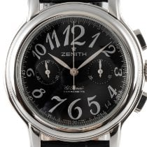 Zenith Steel Automatic Black 36.5mm pre-owned El Primero Chronomaster Lady
