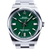 Rolex Oyster Perpetual 36 Acero 36mm Verde Sin cifras