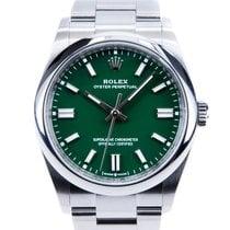 Rolex Oyster Perpetual 36 Çelik 36mm Yeşil Rakamsız