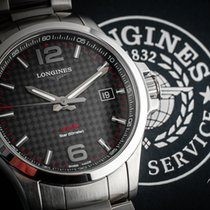 Longines Conquest Steel 43mm Black Arabic numerals