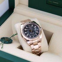 Rolex Sky-Dweller Rose gold 42mm Grey Roman numerals