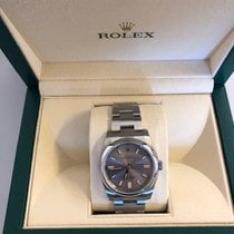 Rolex Oyster Perpetual 36 Acero 36mm Plata Arábigos