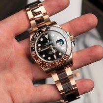 Rolex (ロレックス) GMT マスター II ピンクゴールド 40mm ブラック 文字盤無し