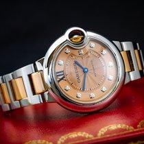 Cartier Ballon Bleu 3489 Very good Gold/Steel 33mm Automatic