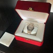 Cartier Ronde Solo de Cartier gebraucht 36mm Silber Datum Stahl