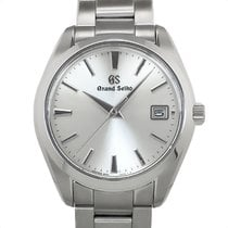 Seiko Steel Quartz Silver No numerals 40mm pre-owned Grand Seiko
