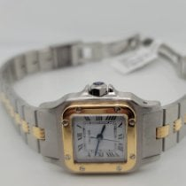 Cartier Santos Galbée Gold/Steel 24mm Silver Roman numerals United States of America, Connecticut, Stamford
