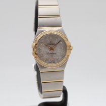 Omega Constellation Quartz 123.25.24.60.55.010 Good Gold/Steel 25mm Quartz