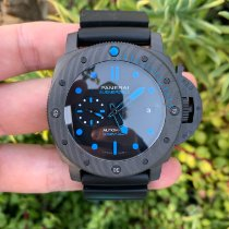 Panerai Carbon Automatic Black No numerals 47mm new Luminor GMT Automatic