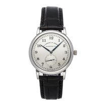 A. Lange & Söhne Platinum Manual winding Silver Arabic numerals 35.9mm pre-owned 1815