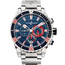 Ulysse Nardin Diver Chronograph Steel 43mm Blue