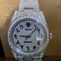 Rolex Or blanc Remontage automatique Argent Sans chiffres 41mm nouveau Datejust II